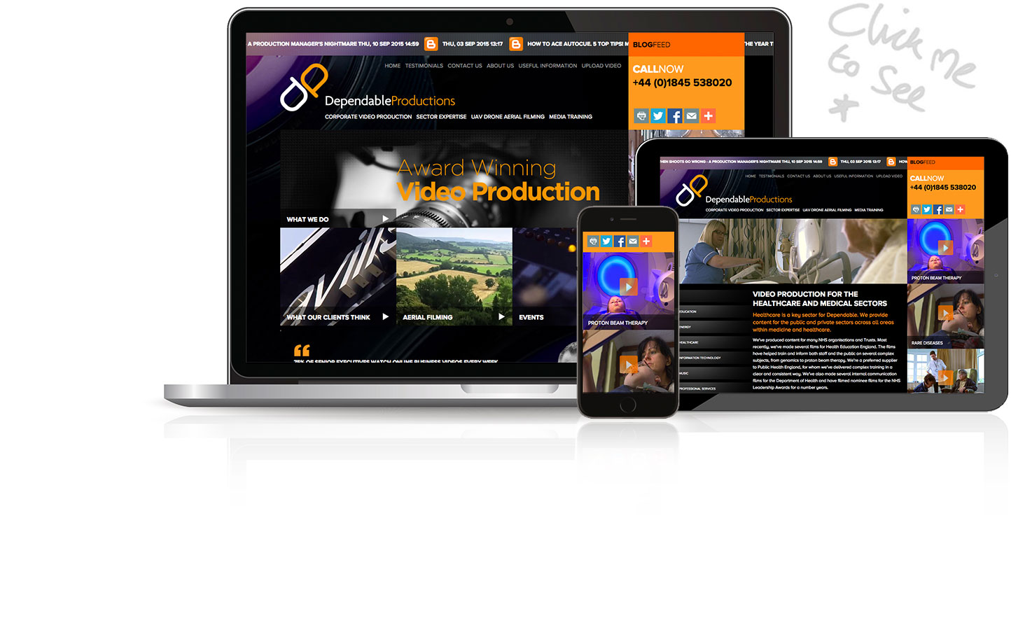 Dependable Productions  Website
